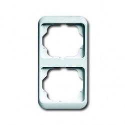 Рамка 2 поста ABB ALPHA NEA, вертикальная, белый матовый, 1754-0-4526