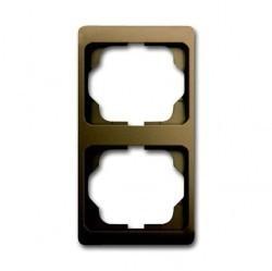 Рамка 2 поста ABB ALPHA EXCLUSIVE, вертикальная, бронзовый, 1754-0-4384