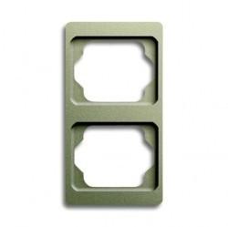 Рамка 2 поста ABB ALPHA EXCLUSIVE, вертикальная, палладий, 1754-0-4117