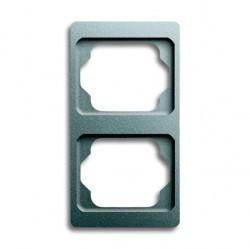 Рамка 2 поста ABB ALPHA EXCLUSIVE, вертикальная, титан, 1754-0-4126