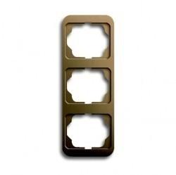 Рамка 3 поста ABB ALPHA NEA, вертикальная, бронзовый, 1754-0-1769