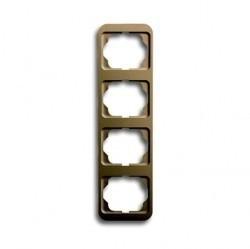 Рамка 4 поста ABB ALPHA NEA, вертикальная, бронзовый, 1754-0-1777