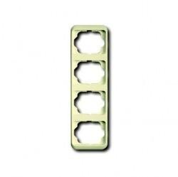 Рамка 4 поста ABB ALPHA NEA, вертикальная, слоновая кость, 1754-0-3773