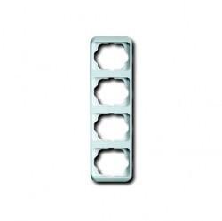 Рамка 4 поста ABB ALPHA NEA, вертикальная, белый глянцевый, 1754-0-2809