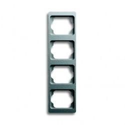 Рамка 4 поста ABB ALPHA EXCLUSIVE, вертикальная, титан, 1754-0-4130