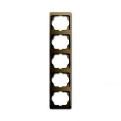 Рамка 5 постов ABB ALPHA EXCLUSIVE, вертикальная, бронзовый, 1754-0-4390