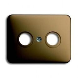 Накладка на розетку телевизионную ABB, бронзовый, 1753-0-1449