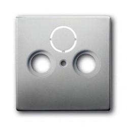 Накладка на розетку телевизионную ABB PURE СТАЛЬ, стальной, 1724-0-4271