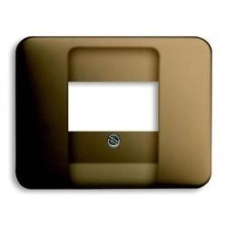 Накладка на мультимедийную розетку ABB, бронзовый, 1753-0-2637