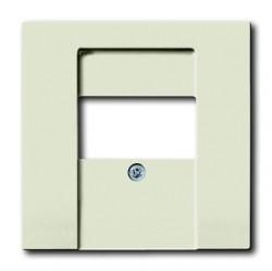 Накладка на мультимедийную розетку ABB AXCENT, chalet-white, 1710-0-3978