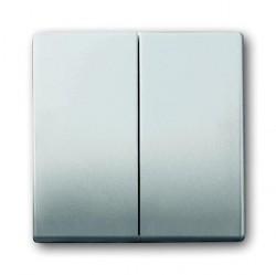 Клавиша двойная ABB PURE СТАЛЬ, стальной, 1751-0-3087