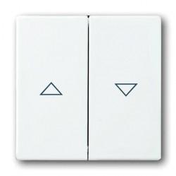Клавиша для жалюзийного выключателя ABB, альпийский белый, 1751-0-3088