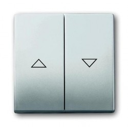 Клавиша для жалюзийного выключателя ABB PURE СТАЛЬ, стальной, 1751-0-2964