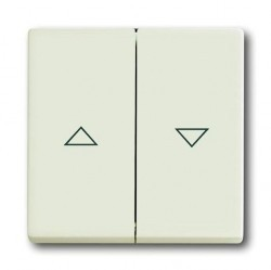 Клавиша для жалюзийного выключателя ABB AXCENT, chalet-white, 1751-0-3062