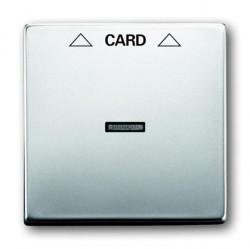 Накладка на карточный выключатель ABB PURE СТАЛЬ, стальной, 1710-0-3757