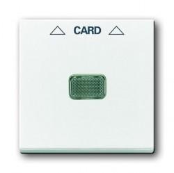 Накладка на карточный выключатель ABB BASIC55, альпийский белый, 1710-0-3864