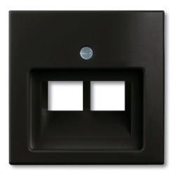 Накладка на розетку информационную ABB BASIC55, château-black, 1753-0-0206