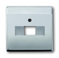 Накладка на розетку информационную ABB PURE СТАЛЬ, стальной, 1710-0-3763