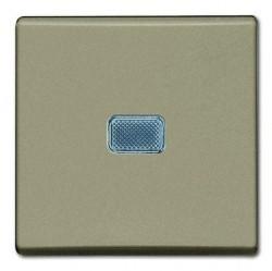 Выключатель 1-клавишный ABB BASIC55, с подсветкой, скрытый монтаж, шампань, 1012-0-2165
