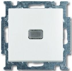 Выключатель 1-клавишный ABB BASIC55, с подсветкой, скрытый монтаж, альпийский белый, 1012-0-2153