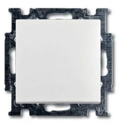 Выключатель 1-клавишный ABB BASIC55, скрытый монтаж, альпийский белый, 1012-0-2139