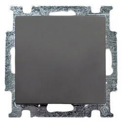Выключатель 1-клавишный ABB BASIC55, скрытый монтаж, château-black, 1012-0-2174