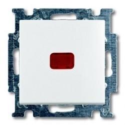 Переключатель 1-клавишный ABB BASIC55, с подсветкой, скрытый монтаж, альпийский белый, 1012-0-2143