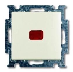 Переключатель 1-клавишный ABB BASIC55, с подсветкой, скрытый монтаж, chalet-white, 1012-0-2190