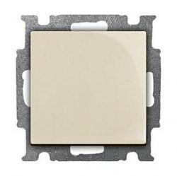 Переключатель 1-клавишный ABB BASIC55, скрытый монтаж, слоновая кость, 1012-0-2149