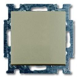 Переключатель 1-клавишный ABB BASIC55, скрытый монтаж, шампань, 1012-0-2169