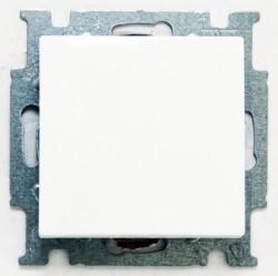 Переключатель 1-клавишный перекрестный ABB BASIC55, скрытый монтаж, альпийский белый, 1012-0-2145