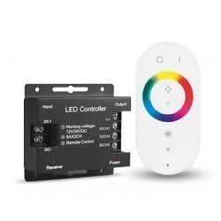 Контроллер для RGB 288W 24А с сенсорным пультом управления цветом (белый) Gauss 201013288