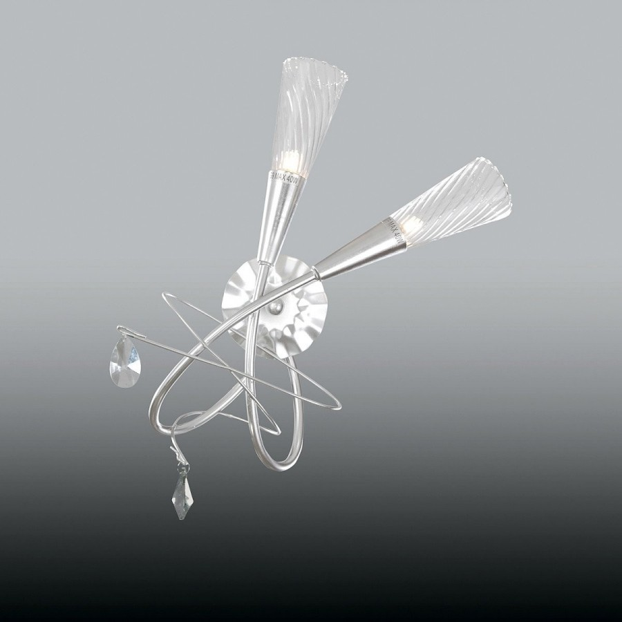 Lightstar  (SB1105/2R)  Бра AEREO 2х25W G9 Silver foil, 711639