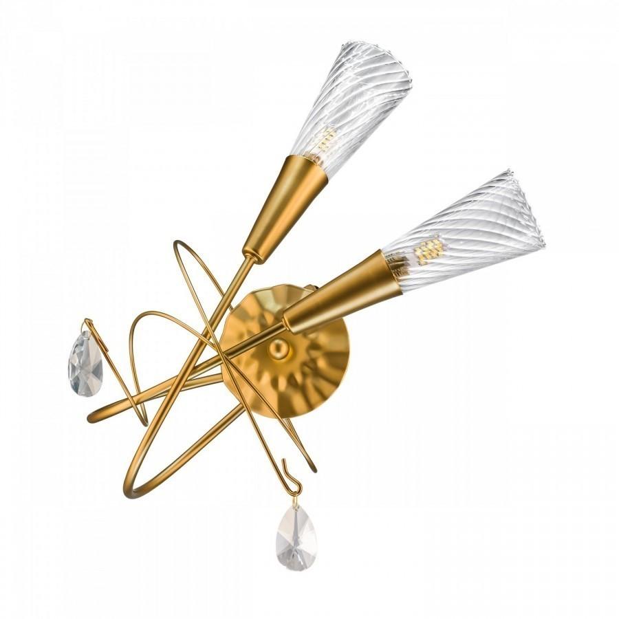Lightstar  (SB1105/2R)  Бра AEREO 2х25W G9 gold foil, 711633