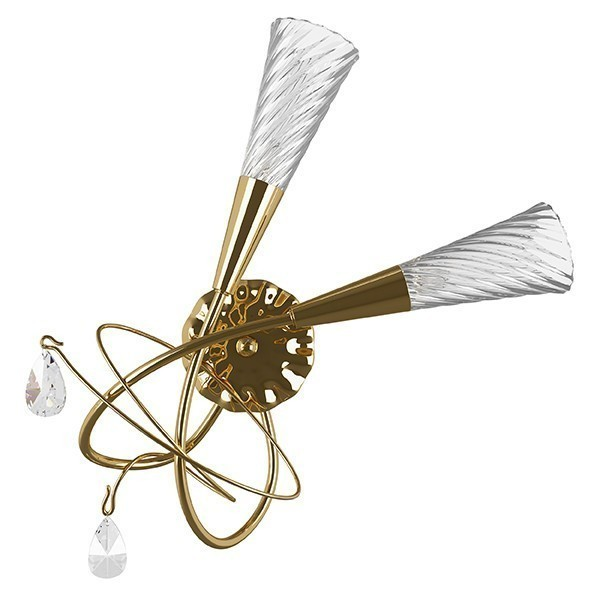 Lightstar (SB1105/2R K)  Бра AEREO 2х25W G9 GOLD, 711632