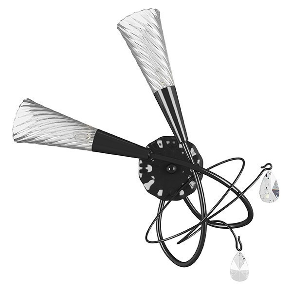 Lightstar (SB1105/2L)  Бра AEREO 2х25W G9 BLACK, 711627