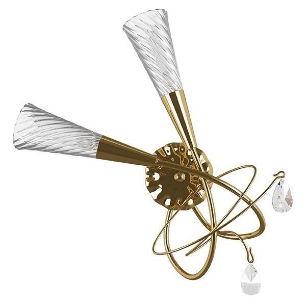 Lightstar (SB1105/2L K)  Бра AEREO 2х25W G9 GOLD, 711622