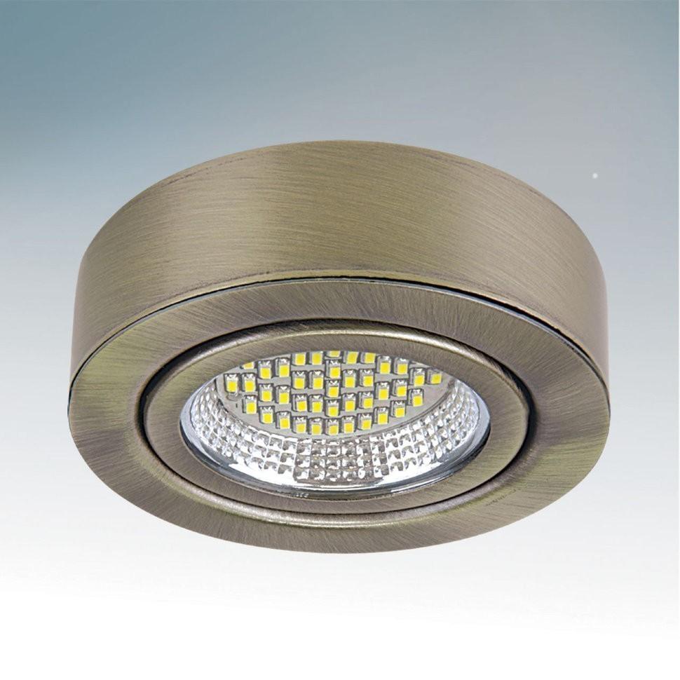 Lightstar Светильник MOBILED LED 3.5W 270LM 90G БРОНЗА ЗЕЛЕНАЯ 3000K, 003131