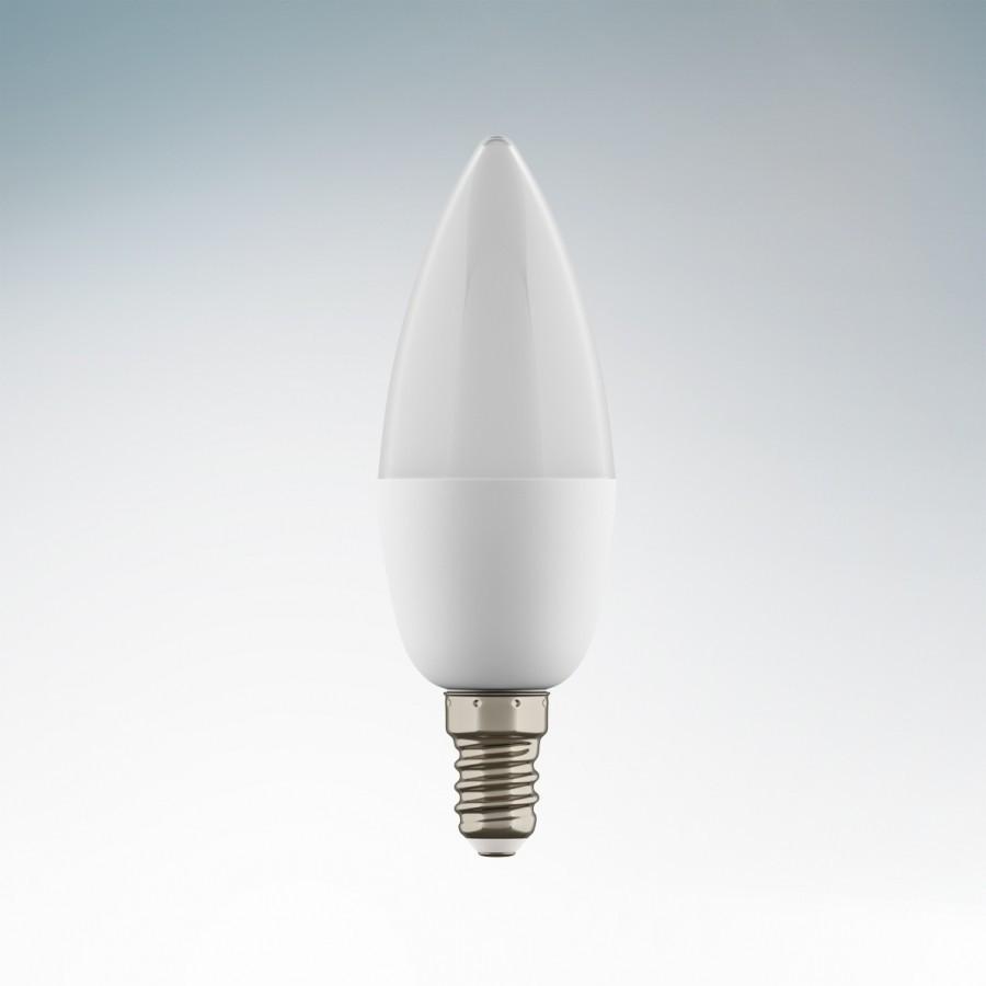 Lightstar  Лампа LED 220V C35 E14 6W =60W 520LM 360G WH 4200K 20000H, 930504