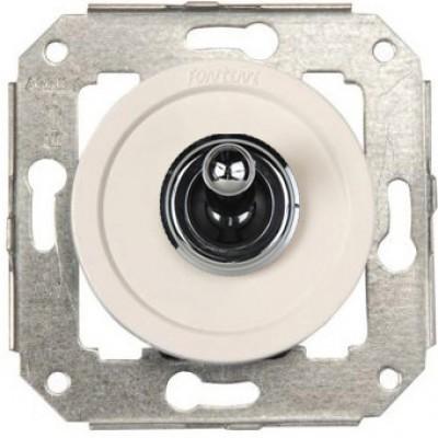 Кнопка тумблерная Fontini VENEZIA, хром/белый, 65312262