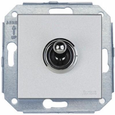 Выключатель тумблерный Fontini F37, хром/металлик, 67306612