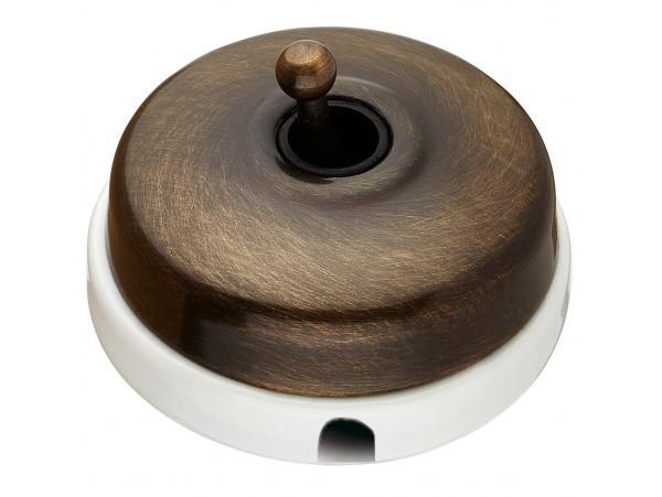 Выключатель тумблерный Fontini DIMBLER, античная бронза, 60306532