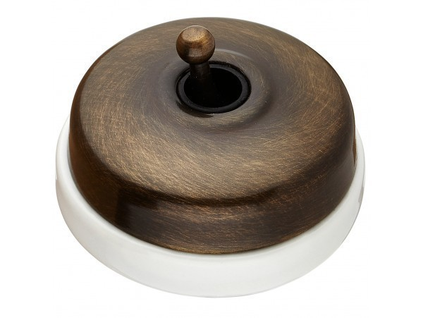 Выключатель тумблерный Fontini DIMBLER, античная бронза, 60306572