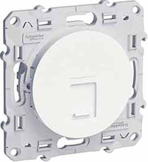 Розетка 1xRJ45 Cat.5 Schneider Electric ODACE, глянцевый, S52R471