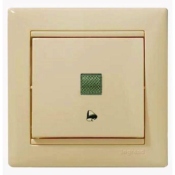 Выключатель 1-клавишный кнопочный Legrand VALENA CLASSIC, с подсветкой, скрытый монтаж, слоновая кость, 774315