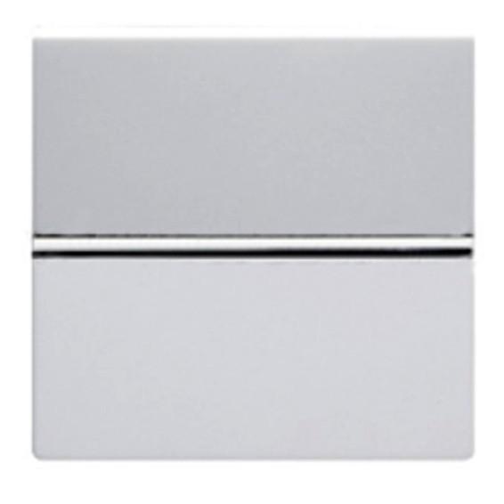 Выключатель 1-клавишный ABB ZENIT, скрытый монтаж, серебристый, N2201 PL