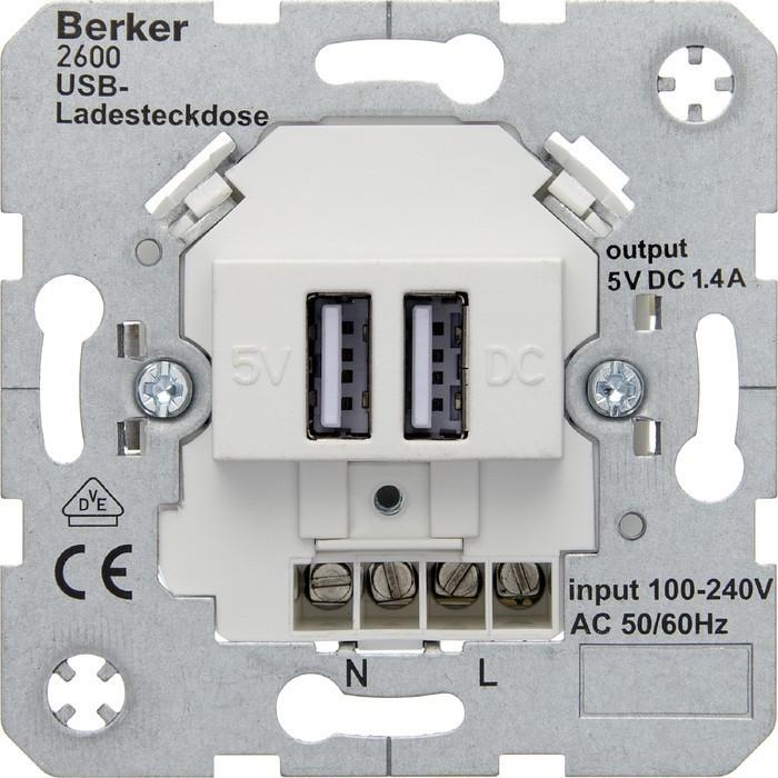 Механизм розетки 2xUSB Berker коллекции Berker, 260009