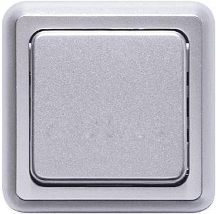 Выключатель 1-клавишный Honeywell COMPACTA, скрытый монтаж, алюминий, 622411