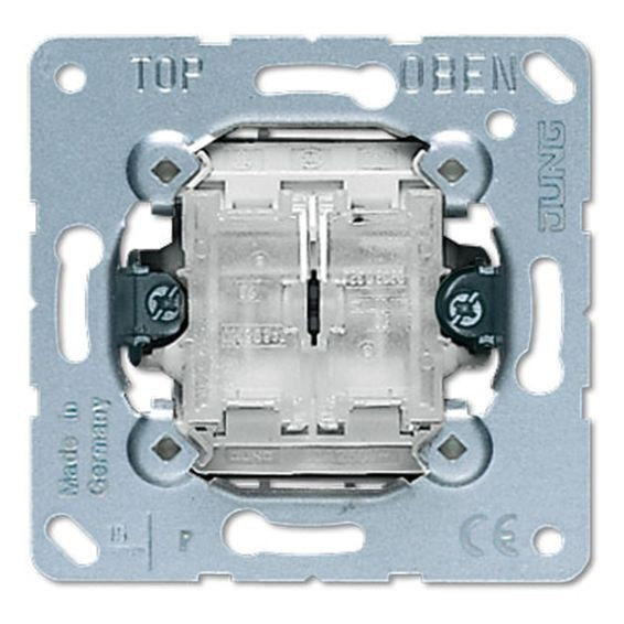Механизм выключателя 2-клавишного Jung Коллекции JUNG, скрытый монтаж, 505TU