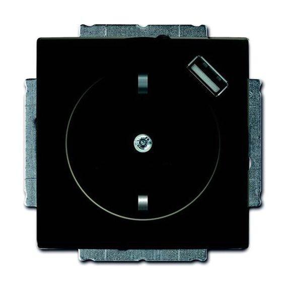 Розетка 1xUSB ABB BASIC55, château-black, 2011-0-6195